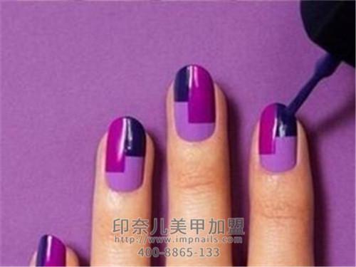 贵人运,紫色美甲,美甲,美甲款式
